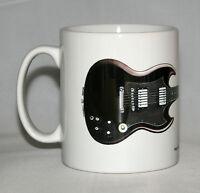 Guitar Mug. Angus Young's Gibson SG illustration.