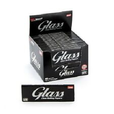 New BOX of 24 Packs GLASS 1.25 CLEAR Transparent Cigarette rolling papers LUXE