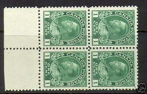 Canada #104 NH Mint Block
