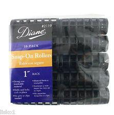 "Diane #2119 BLACK SNAP ON 1"" HAIR ROLLER 10 - PACK"