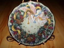 """Rejoice"" LENA LIU'S HOLIDAY ANGELS by Lena Liu Bradford Exchange Angel Plate"