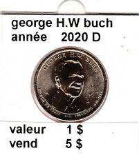 pièces de 1 $  george H.W. buch 2020 D