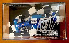 * FIRMATO * Minichamps 1:43 NELSON PIQUET JR, DALLARA HONDA F303, BRITISH F3 2003