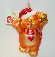 2003 Care Bears Santa Tenderheart Bear Glass Blown Ornament American Greetings