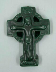 CHRIST EN CROIX CERAMIQUE XX EME 1970 INRI H3142