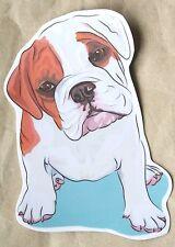 Cute Bulldog Dog Pup Sticker Photo Paper Laptop Luggage Phone 9 x 7.5 cm
