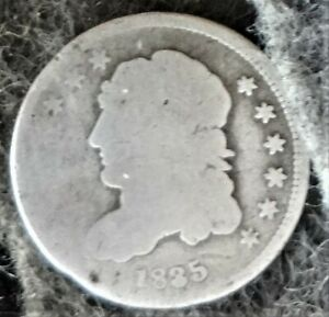 Silver 1835 US Philadelphia Mint Capped Bust Half Dime - Small Date - Large 5c