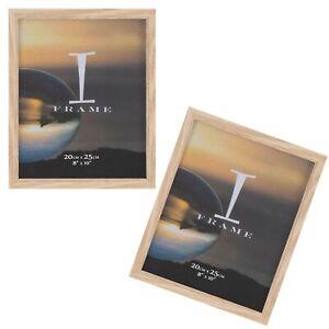 2 Confezione Tinta Unita Cornici per Foto Iframe - Quercia 20.3cmx25.4cm