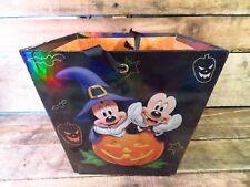 Who's Scared Mickey Minnie Donald Halloween Bucket Ribbon Handle NEW Disney