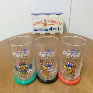 Rare !! 1984 Los Angeles Olympic Coca-Cola Eagle Sam Glass Not for sale Unused
