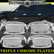 2003-2016 LINCOLN NAVIGATOR Triple Chrome Door Handle Covers W/Out Psgr Keyhole
