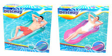 Bestway Aqua Lounge Colchoneta 160x84cm Nadar Cubierta Cama de Agua