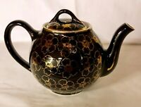 Hall 6 Cup Black French Flower Design French Teapot