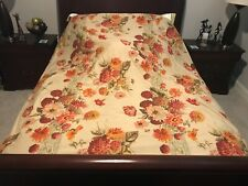 Pottery Barn Bed and Bath Floral Queen Duvet Cover and Euro Shams