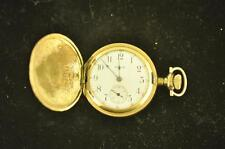 VINTAGE 0 SIZE ELGIN HUNTING CASE POCKET WATCH GRADE 354 FROM 1911 KEEPS TIME