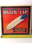 Vintage Original BLUE TIP WEST ORANGE CITRUS Fruit Crate Box Label Unused 1950s?
