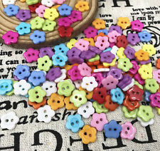100pcs Resin Buttons Mini Flower 2-Holes Fit sewing scrapbooking crafts 10mm
