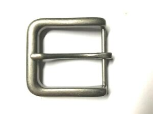 """BELT BUCKLE - ANTIQUE SILVER FINISH PIN STYLE BUCKLE TO SUIT 1.5"""" SNAP ON BELT"""