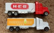 PEZ Retired HEB (from Texas) & BOTTOM DOLLAR FOOD Advertising Haulers-Both Mint
