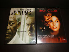THE CONTRACT & HIGH CRIMES-2 DVDs-Morgan Freeman, John Cusack, Ashley Judd