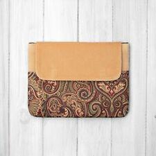 Peach Velvet Paisley iPad cover case bag 3rd 5th 6th Air Pro 9.7 10.5 11 12.9 in