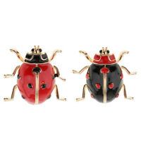 Insects Ladybug Brooch Bouquet Coccinella Animal Lapel Collar Costume Pin
