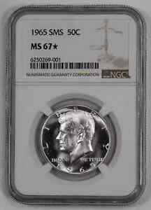 1965 SMS KENNEDY HALF DOLLAR 50C NGC CERTIFIED MS 67* MINT STATE UNC STAR (001)