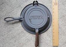 STOVER Waffle Iron No 7 Cast Iron Unseasoned Antique Vintage New