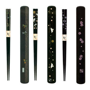 Japanese Portable Travel Reusable Chopsticks with Plastic Case Made in Japan