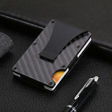 Mens Anti Theft Metal ID Credit Card Holder RFID Protector Aluminum Wallet Case