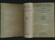 Immanuel Kant sämtliche Werke IV 4 Philosophische Bibliothek 43 44 45 Kants