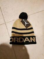 Jordan Youth PomPom Cuff Gold/Black Winter Beanie Hat Size 8/20 MSRP: $22
