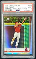 2019 Topps Chrome PRISM REFRACTOR Angels MIKE TROUT Card PSA 9 MINT Pop 176