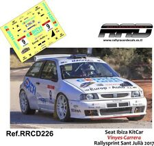 DECAL/CALCA 1/43; Seat Ibiza KitCar; Vinyes-Carrera; Rallysprint Sant Julia 2017