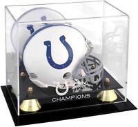 Indianapolis Colts Super Bowl XLI Champs Golden Classic Mini Helmet Logo Case