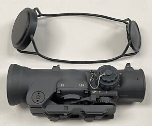 ELCAN SPECTER 1.5X-6X 7.62 RED DOT RIFLE SCOPE NEW DFOV14-C2 With/ Rubber Cover