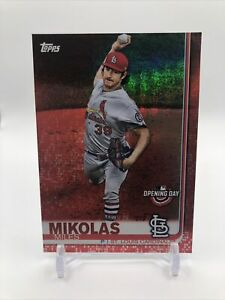 2019 Topps Opening Day Red Foil Miles Mikolas #190