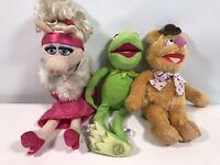 Disney Store Muppet Plush Toys Bundle Ms Piggy, Kermit & Fozzie Stamp Exclusive