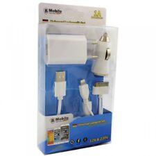 Universal Ladegerät Set 220V/12V(Auto) MicroUSB(Samsung,HTC,Huawei) Apple iPhone