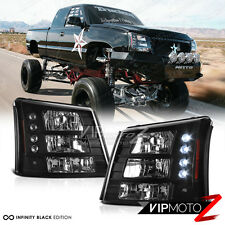 2003-2006 Chevy Silverado [CONVERSION PKG] 03-05 Avalanche LED Headlights Black