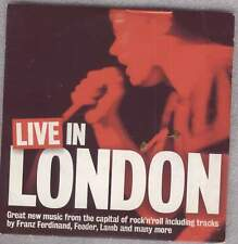 LIVE IN LONDON - PROMO CD (2004) FRANZ FERDINAND, FEEDER, FIERY FURNACES, LAMB