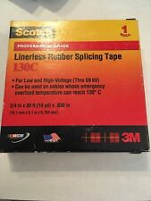 """3M Scotch 130C Linerless Rubber Splicing Electrical Tape 3/4"""" x 33 ft, 1 Roll"""