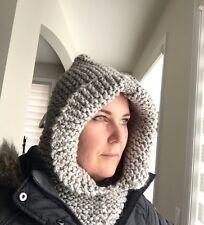 knitted cowl hood,scarf,chunky knit hood,winter hat scarf,warm hoodie,men/women