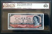 1954 Bank of Canada $2 Devil's Face Changeover I/B Prefix BCS UNC-60 BC-30b