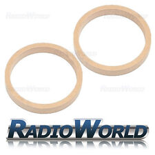"""6.5"""" 165mm MDF Speaker Spacer Mounting Rings 22mm Thick ID 144mm ED 177mm Pair"""