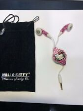 Hello Kitty mascot Crystal encrusted earbuds earphones Simmons Jewelry Co.