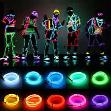 Flexible 3V EL Wire LED Neon Light Dancing Party Car Decor With Controller EFAA