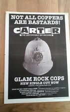 CARTER USM Coppers 1994 UK Poster size Press ADVERT 16x12 inches