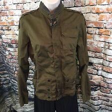 G-Star Raw Denim Womens Utility Shirt Jacket Size Medium 100% Cotton Green Brown