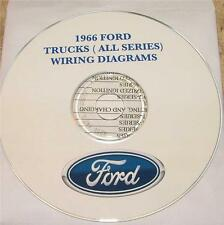 1966 FORD TRUCKS ALL SERIES WIRING DIAGRAM MANUAL ON CD